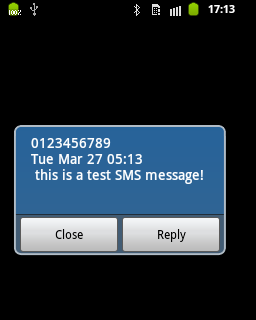 Android SMS popup - Part Four: Implicit Intents - DZone Mobile
